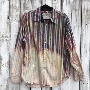 Distressed Custom bleached Cotton Shirts OOAK